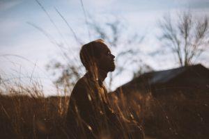 Mann und Meditation